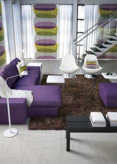 mor koltuk modelleri salon oturma odasi dekorasyonu kadife saten kumasli mor koltuklar (3)