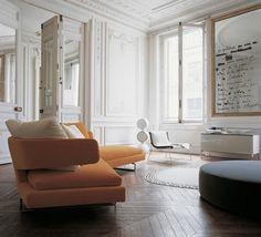 Innovative Sofa Ideas for Striking Interior Design: Orange Sofa Ideas ~ bidycandy.com Interior Inspiration