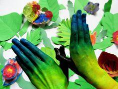 Body art - motýli výtvarná výchova elementary art