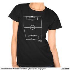 Soccer Pitch Women's T-Shirt (Black)