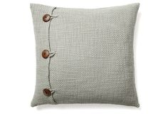 One Kings Lane - All for Nautical - Xavy 20x20 Wool Pillow, Duck Egg