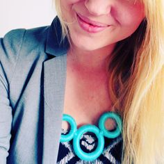 DIY - Curtain ring statement necklace | By Wilma