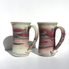 Mauve Pottery Handmade pottery Handmade Steins by Donellensvintage