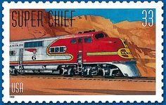 "The Super Chief was one of the named passenger trains and the flagship of the Atchison, Topeka and Santa Fe Railway. It claimed to be ""The Train of the Stars"" because of the many celebrities it carried between Chicago, Illinois, and Los Angeles, California. https://www.flickr.com/photos/locosteve/galleries/72157623566379301/"
