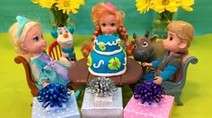 Surprise Birthday Party for Anna Frozen Fever Cake Secret Gift from Kristoff Great video! Frozen Fever fun.