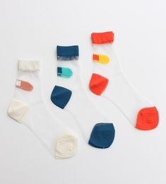 didiziziくつずれスケスケショートソックス sheer socks