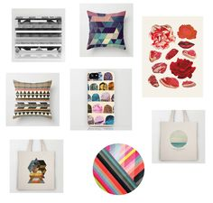 Art on home wares, iPhone cases, etc at Society6