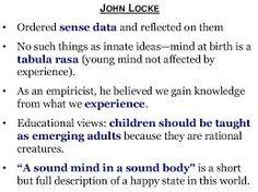 john locke tabula rasa theory