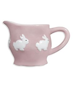 Pink Spring Bunny Ceramic Creamer Mug