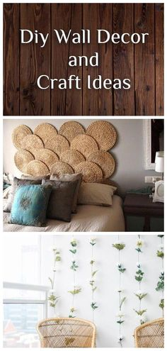 AMAZING, COST-EFFECTIVE AND EASY DIY WALL CRAFTS FOR THE BEGINNERS Craft Ideas, Decor Ideas, Diy Wall Decor, Home Decor, Wall Hooks, Container Gardening, Wall Decals, Repurposed, Easy Diy