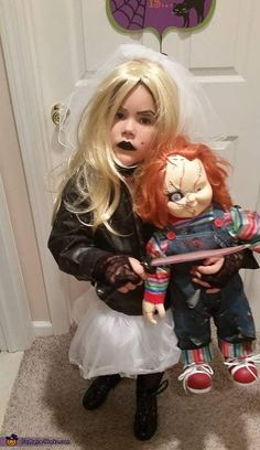 Bride of Chucky Girlu0027s Halloween Costume Idea  sc 1 st  Pinterest & chucky costumes for kids tiffany | Bride Of Chucky Costume For Kids ...