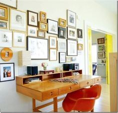 Photo wall inspiration--let them be different! Love the variation :)