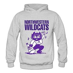 PRUSI Women's Northwestern Wildcats University Hoodies Sweatshirt Size S US Ash - Brought to you by Avarsha.com