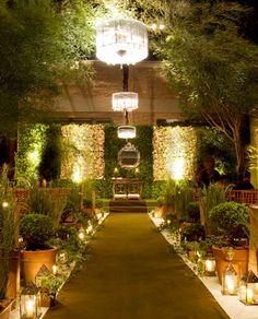 Decoração de casamento em tons verde. / Wedding decoration