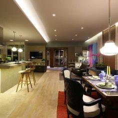 Graciela Piñero criou lounge gourmet de 55m² chamado de A Cozinha dos Meus Sonhos. O ambiente une uma cozinha funcional com espaço intimista
