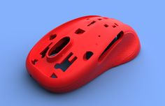 plastic mouse case 3D scan