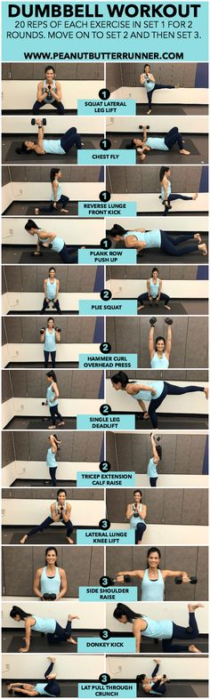 3 Set Dumbbell Workout - Total Body Dumbbell Workout | Posted By: NewHowToLoseBellyFat.com