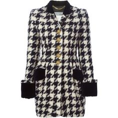 Moschino Vintage Houndstooth Coat