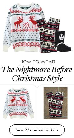"""""""Sweater"""" by lynnesummersxx on Polyvore featuring uglychristmas"""
