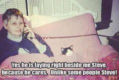 He cares