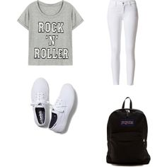 Untitled #85 by cydn on Polyvore featuring polyvore fashion style Keds JanSport