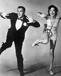 Gene Kelly and Debbie Reynolds..... she never had a dancing lesson