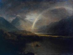 The Athenaeum - Buttermere Lake, with Part of Cromackwater, Cumberland, a Shower (Joseph Mallord William Turner - )