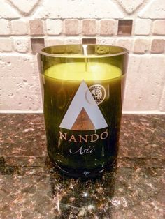 13 oz Handmade Soy Wine Bottle Candle by AshCandleShoppe on Etsy