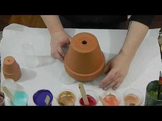 (98) Acrylic Poured Terracotta Pots - YouTube
