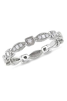 0.2 CT Diamond Eternity Ring In 10k White Gold - the ring i want for my birthday. please make a note !
