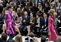 Dita Von Teese Photos Photos - (L-R) Victoria Pendleton, Aaron Paul, Dita Von Teese, Harry Styles and Dev Patel  attend the Burberry Spring Summer 2013 Womenswear Show - Front Row at Kensington Gardens on September 17, 2012 in London, England. - Burberry Spring Summer 2013 Womenswear Show - Front Row