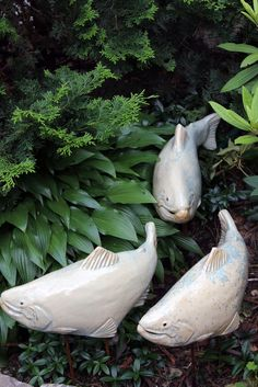 Fish In The Garden LLC - Set of 3 Seafoam Salmon , $180.00 (http://www.fishinthegarden.net/set-of-3-seafoam-salmon/)
