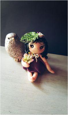 Livia fée de la nature. porte bonheur. figurine miniature. : Sculptures, gravures, statues par au-jardin-d-eden-creations