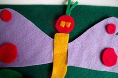 Homemade Felt Boards This also made me think of making a butterfly felt board with different wing decorations. S