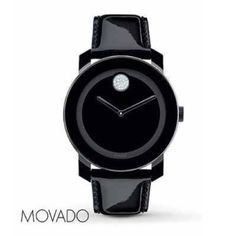 MOVADO BOLD WATCH BRAND NWOT AUTHENTIC BLK BOLD MOVADO WATCH WITH CRYSTALS AND BLK PATENT LEATHER BAND.. MY PRICE IS FIRM AND HAPPY POSHING  Movado Accessories Watches