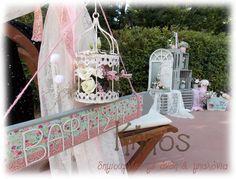 μεντα ροζ βαφτιση Wedding Decorations, Table Decorations, Bird Cage, Vintage Decor, Cool Kids, Lanterns, Burlap, Shabby Chic, Marriage