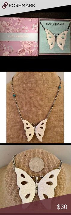 I just added this listing on Poshmark: Lucky Brand Silver & Cream Butterfly. #shopmycloset #poshmark #fashion #shopping #style #forsale #Lucky Brand #Jewelry