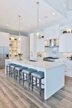 Supreme Kitchen Remodeling Choosing Your New Kitchen Countertops Ideas. Mind Blowing Kitchen Remodeling Choosing Your New Kitchen Countertops Ideas. White Shaker Kitchen Cabinets, White Kitchen Cabinets, Kitchen Sinks, White Kitchen Flooring, White Appliance Kitchen, Kitchen Island Sink, Kitchen Cabinets And Flooring, Modern Shaker Kitchen, Stain Cabinets
