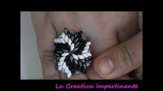 DIY beads ring - tutorial anello superduo e twin
