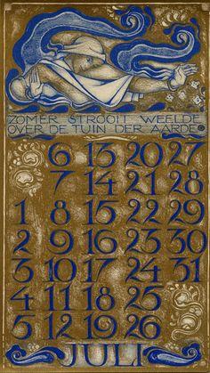 Dutch calendar. Jan Toorop?