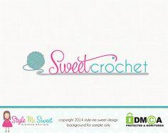 Crochet Logo Design Premade Hand Drawn By Stylemesweetdesign