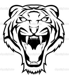 Tiger Clipart and Stock Illustrations. Tiger vector EPS illustrations and drawings available to search from thousands of royalty free clip art graphic designers. Ta Moko Tattoo, Tiger Tattoo, Tiger Vector, Vector Art, Vector Stock, Eps Vector, Tiger Stencil, Angry Tiger, Desenho Tattoo