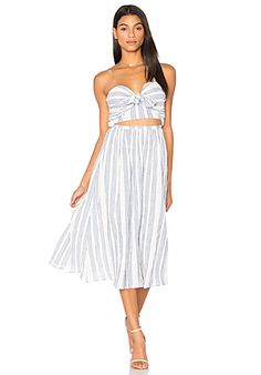 LoveShackFancy Jenna Dress in Blue & White   REVOLVE