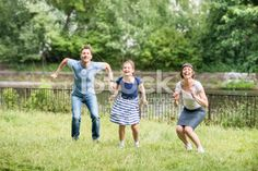 Happy family jumping togetherness Royalty Free Stock Photo