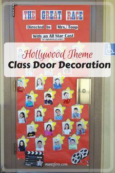 Wonderful Hollywood Themed Classroom Door Decoration