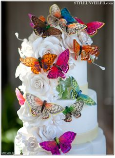 Butterfly Wedding Cake - Nancy Kay's Confections - Southern California Wedding Cakes