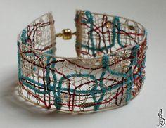Lace Jewelry, Textile Jewelry, Jewellery, Lace Bracelet, Cuff Bracelets, Lace Heart, Unusual Jewelry, Tatting Lace, Bobbin Lace