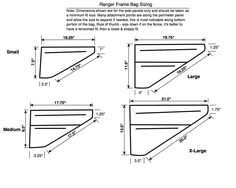 Revelate Designs LLC | Ranger Frame Bag Sizing | $140 to $160