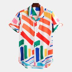 Mens Fashion Geometric Printed Breathable Casual Shirts Source by banggoodonline outfits for men Camisa Vintage, Mens Printed Shirts, Printed Shorts, Fishing Shirts, Casual Shirts For Men, Shirt Style, Men Shirts Style, Mens Fashion Shirts, Shirt Designs