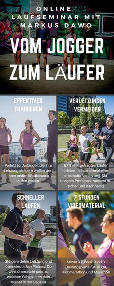 Von 0 auf Marathon ist das erste deutschsprachige Online-Laufseminar. Es hilft dir schneller und weiter zu laufen, als jemals zuvor und dabei Verletzungen zu vermeiden. Natürlich bei minimalem Trainingsaufwand, damit du dein Hobby optimal mit Beruf und Familie vereinbaren kannst.  Das Seminar verfolgt drei Ziele:      Deine Laufdistanz verlängern     Deine Geschwindigkeit steigern     Deine Gesundheit fördern Nordic Walking, Fitness Workouts, Fitness Tips, Marathon Training, Jogger, Triathlon, Planer, Swimming, Baseball Cards